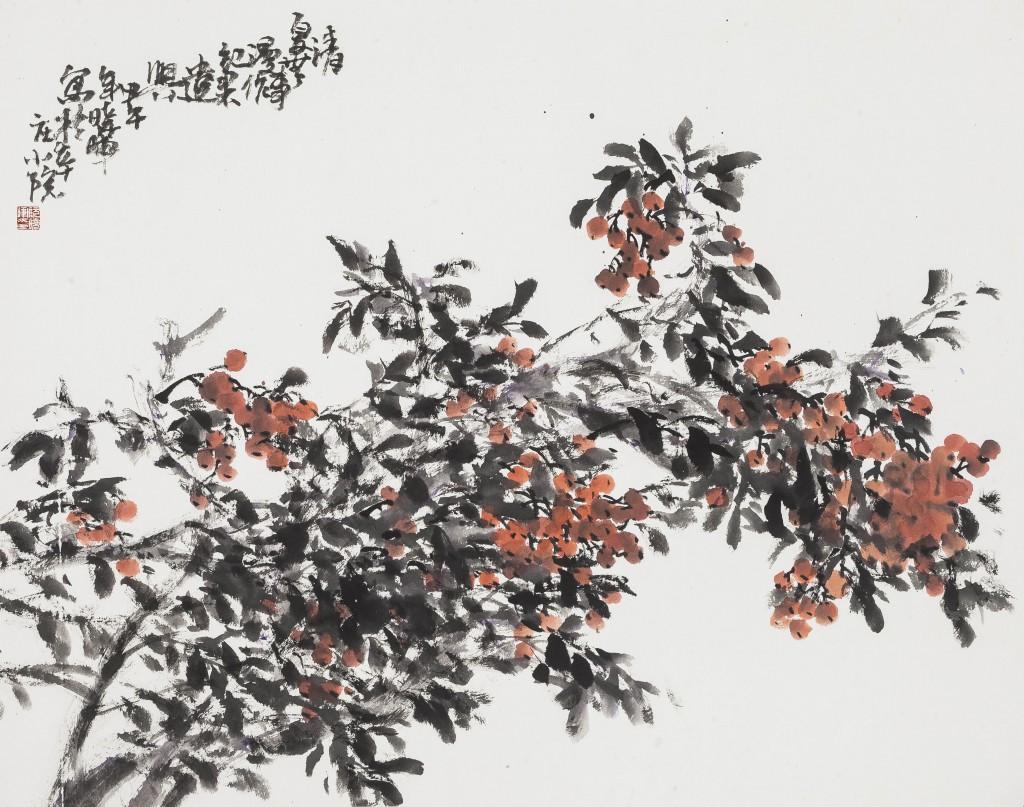 阮晓晖   果实  纸本水墨  71cmx90cm  2014