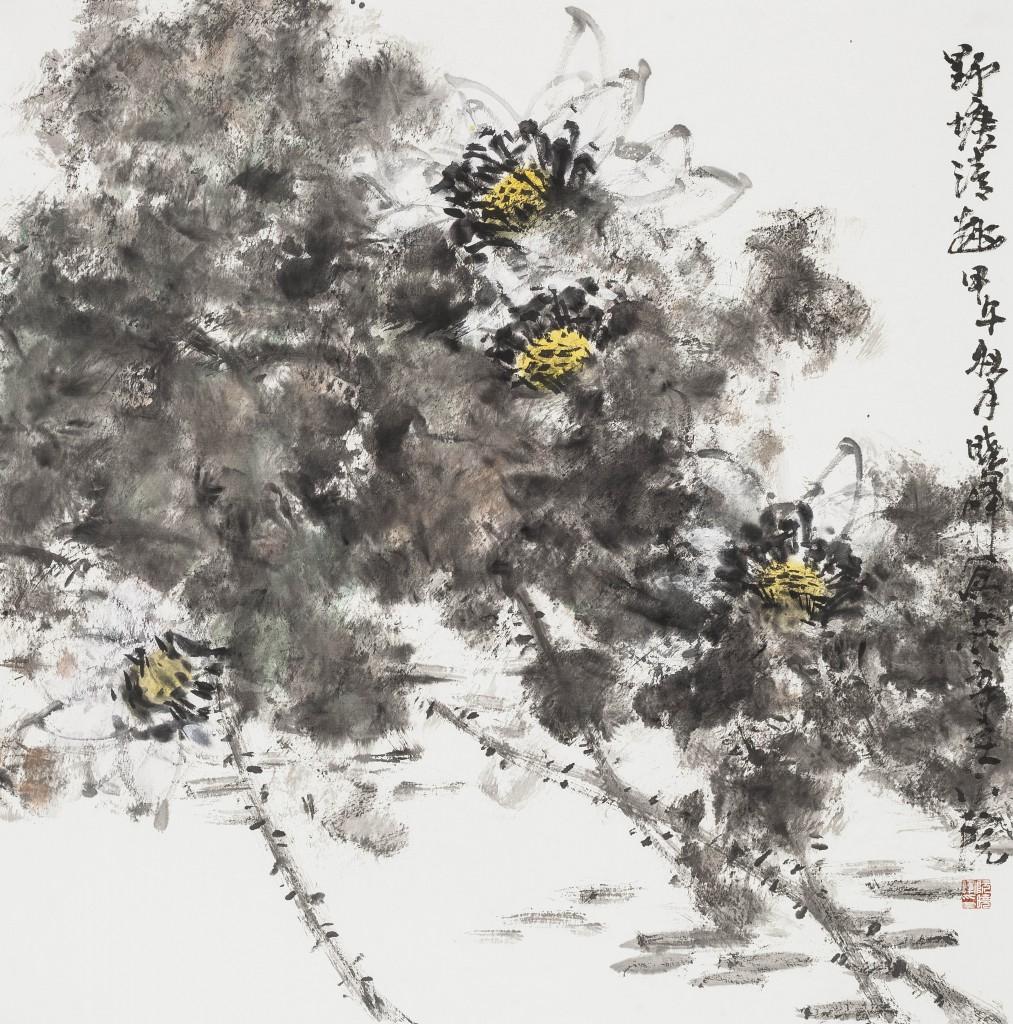 阮晓晖   荷  纸本水墨  68cmx68cm  2014
